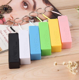 Wholesale Iphone Key Charger - Portable Power Bank Mobile USB 18650 Battery Charger Key Chain KeyChains for iPhone MP3