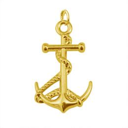 Wholesale Cheap Yiwu Jewelry - 30Pcs Lot Zinc Alloy Rhodium Gold Plated Cheap Popular Nautical Anchor Charm Jewelry Made In Yiwu