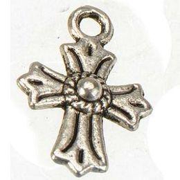 Wholesale Small Cross Charm Bracelet - antique silver crosses charms metal small medieval vintage new diy fashion jewelry accessories fit necklaces bracelets 17*11mm 300pcs