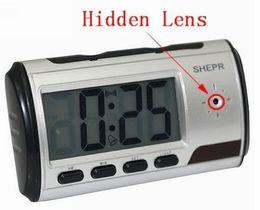 Wholesale Alarm Control Spy Camera - Spy Hidden Camera Clock HD Digital camera Alarm Clock Motion Detector Sound Recorder Digital Video clock With Remote Control For security