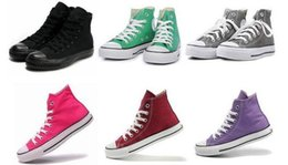 Wholesale Casual Nude Color Shoes - HOT SALE 13 Color 26 style All Size 35-45 Low Style high Style chuck Classic Canvas Shoe Sneakers Men Women sport Shoes Casual Shoes .Y0693