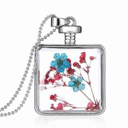Wholesale Memory Life - Floating Flower Charms Locket Pendant Jewelry Glass Locket Necklace Stainless Steel Titanium Tree of Life Memory Lockets YH-N-014