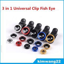 filtro recubierto Rebajas Precio de fábrica 3 en 1 Universal Clip ojo de pez gran angular macro teléfono lente ojo de pez para iPhone Samsung htc lg