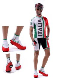 Wholesale Italia Cycle Jersey - 2017 italia cycling jersey Sports Outdoor Zippered Overshoes Cycling Bike Shoe Covers Windproof Bicycle Protective Shoes Sleeves Arm cuff