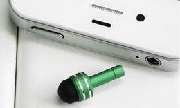 Wholesale Headphones Ipad2 - Wholesale-3.5mm Headphone Dust Plug Mini Stylus Touch Pen for iPhone touch screen pen for iPad2 2 3rdTablet All Mobile Phones