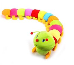Wholesale Caterpillars Baby Toys - 50cm Baby Toys Colorful Caterpillars Millennium Bug Doll Plush Toys Large Caterpillar Hold Pillow Doll toys for children