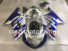 Wholesale Gsxr K1 Fairing - 3 gifts Fairing For SUZUKI GSXR600 GSXR750 01-03 GSXR 600 750 GSX R600 R750 K1 01 02 03 2001 2002 2003 GSXR-600 Fairing Kit Blue Black Q1