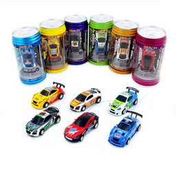 rc toy racing Promo Codes - 2016 New 6 Color 4CH RC car New Coke Can Mini speed RC Radio Remote Control Micro Racing cars Toy Gifts Promotion