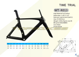 Wholesale Time Bikes Frames - WT-R013 Time Trial Road Bike Frame,Full Carbon Fiber TT Frame, Frame+Fork+Seat Post+Headset+Clamp,Size 47 49 52cm