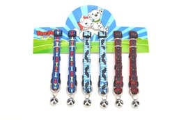 Wholesale Kitten Collars Bells - FREE SHIPPING! Wholesale Cat Application Pet Puppy Cat Breakaway Kitten Nylon Collar Tie with Bell Multi Colors Assorted
