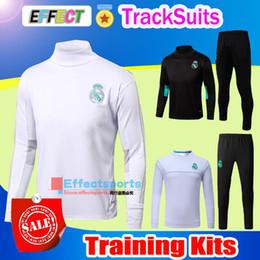 Wholesale Real Golds - 2017 AC Marseille Training Suits 17 18 LYON Real Madrid RONALDO MESSI kits Tracksuit Camisetas De Futbol Chandal Survetement Jacket Shirts