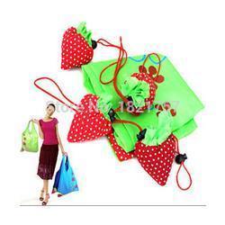 Wholesale Strawberry Reusable Tote Shoulder - Best Price 200 pcs lot Strawberry Foldable Eco Bag Reusable Shopping Tote Shoulder Purse Cute Beauty 0914#14