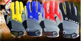 Wholesale Winter Leather Cycling Gloves - Brand New GEL Full Finger Men Cycling Gloves Slip MTB Bike Bicycle Racing Sport Breathable & Shockproof