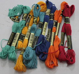 Wholesale Wholesale Embroidery Floss Threads - Fashion Hot 8.7 Yard Embroidery Thread Cross Stitch Thread Floss CXC Similar DMC 447 colors