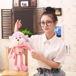 Wholesale Love Doll Foot - 1Pcs Lovely Colorful Strawberry Feet Hanging Monkey Cute Plush Toy Children Loved Doll Gifts Free ShippingYZT0003