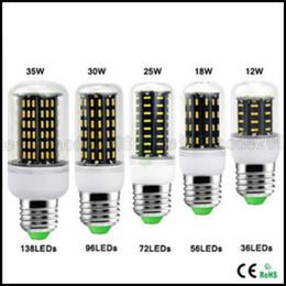 Wholesale E27 35w - Ultra Bright E27 E14 GU10 G9 12W 18W 25W 30W 35W Led Lights SMD 4014 Led Corn Light AC110V 220V Lamp Corn Bulb 360 degree Spot Light LLWA025