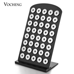 Wholesale Acrylic Jewelry Display Transparent - VOCHENG NOOSA 2 Colors Black Transparent Acrylic Snap Display Detachable Set 5.3inch*8.7inch for 18mm Gingersnaps Jewelry Vn-457