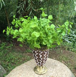 "Wholesale Artificial Grass Bouquet - HOT Plastics Green Mint Plant 35cm 13.78"" Artificial Mentha Greenery Grass Bunch for DIY Bride Bouquet Home Xmas Decor"