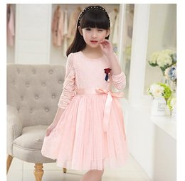Wholesale Gowns Ancient - The most beautiful flower girl dress fashionable restore ancient ways round collar sleeveless dresses elegant bowknot belt flower girl dress