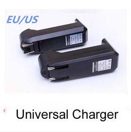 Wholesale Dhl Adapter Eu Plug - Universal Single Slot Charger For 3.7V 450mA 18650 16340 14500 Li-ion Rechargeable Battery EU US Plug Charge Adapter 100pcs lot dhl free
