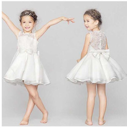 Wholesale Girls Pinafore Lace - 2016 NEW lace kids dresses bow girl bowknot Children's hollowed-out ball gown pinafore wedding flower girls backless tulle dress princess 8