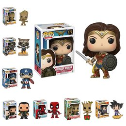 Wholesale Popping Videos - 42 Styles Funko POP Models Anime Cartoon Movies Video Game Action Figurines Toys Super Hero PVC Model With Retail Box Kids Gifts LA530