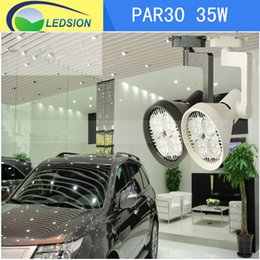 Wholesale Fan Globe - 35W Par30 E27 LED Spot Light with Internal Fan, used for Supermarket Mall Tracking Light , 3000LM 24PCS chips