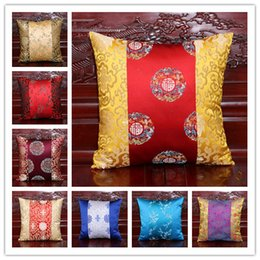Wholesale Sofa Backrest - Fancy Double side Patchwork PillowCases Latest Chinese style High End Luxury Natural Damask Backrest Cushion Covers for Sofa Chair Decorate