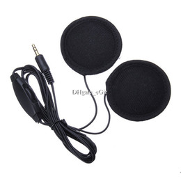 Wholesale Stereo Radio For Motorcycles - M113 Motorcycle Motorbike Helmet Multi Stereo Headset Earphones for GPS MP3 MP4 CD Radio w  Mini 3.5mm Jack Free DHL MOQ 30PCS