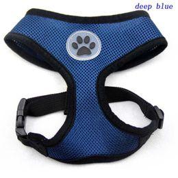 Wholesale Design Pets Belt - 100pcs New design Soft Air Mesh pet Dog Harness with Paw Label Popular Pet Harness belt
