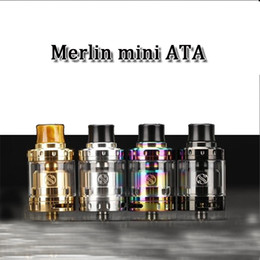 Wholesale E Cig Dual Clearomizer - huge vape clearomizer merlin mini RTA rebuildable e cig 510 tread atmoizer 24mm diameter huge capacity dual coil vaperizer
