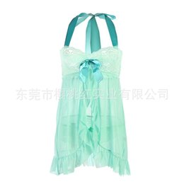 Wholesale Female Transparent Costumes - New Women Sexy Lingerie Hot Sets Perspective Erotic Transparent Lace Sex Pajamas Suits Female Underwear Sleepwear Sexy Costumes-11*8P