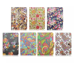 Wholesale Ipad Covers Flowers Pink - Butterfly&Flowers New Universal Flip Leather Folio Cover Case For 7inch IOS Android Tablet pc