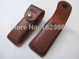 Wholesale Knife Scabbards Wholesale - Folding knife sheath Browning pure leather pocket folding knife scabbard special holster 111D111C multi-function outdoor knife