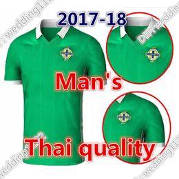 Wholesale Thailand Quality Soccer Jerseys - Top thailand quality Northern Ireland soccer jerseys 2018 home green Tuaisceart Eireann McNAIR K.LAFFERTY DAVIS football shirts jerseys