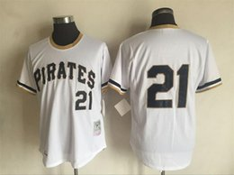 Wholesale New Jersey Yankees - New 1951 Yankees Mickey Mantle Throwback Jersey #21 PIRATES White Stripe Home Stitched Baseball Jerseys Size 40-56 Mix Order All Jerseys