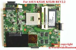 Wholesale Asus K52je - Wholesale-Original laptop motherboard for ASUS K52JE K52JR motherboard REV2.2 Intel DDR3 Non-integrated fully test and free shipping