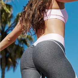 Wholesale Female Bodybuilding - 2017 Hot sale patchwork heart hip leggings sportswear for women bodybuilding grey slim sexy peach push up legging female pants