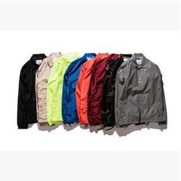 Deutschland Kleidung der Marken-Männer ULZZANG feste Standplatz-Kragen-Windjacke-Art- und Weiseweinlese-Frühlings-Sommer-dünne Sport-Jacken-Mäntel cheap ulzzang coats Versorgung