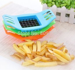 Wholesale Vegetable Potato Chips - Wholesale 6pcs French Fry Potato Chip Cut Cutter Vegetable Fruit Slicer Chopper Chipper Blade Kitchen Tool Free