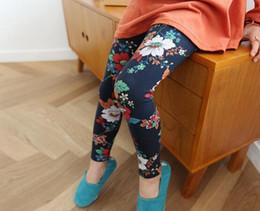 Wholesale Leggings Korean Flower - Printing Kids Tights For 2015 Autumn All-matched Children Flower Leggings Korean Style Cotton Girls Clothing Fit 2-7 Age 90-130