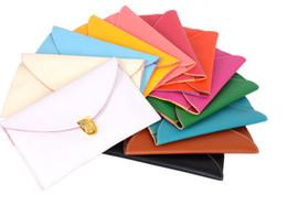 Wholesale Clutch Bag Wholesale Prices - Wholesale-2015 Hotsale Factory price Woman HandBags Clutches Bags leather Shoulder bags Candy 12 Colors Fashion Retro Style Envelope Bags