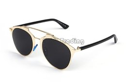 Wholesale Sunglasses Quality Wayfarer - 2016 Famous Star Fashion Sunglasses Brand Cat Eye Sun Eyeglasses Frame AAA Quality Cool Mirror Eyewear 6 Colors