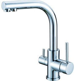 Wholesale Household Pourers - All Copper Kitchen single hole hot and cold water faucet household water purifier pure water filter tap water