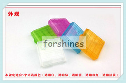 Wholesale Aa Cell Holder - 10pcs,free shipping to USA,China stock best Convenience hard Plastic AA aa AAA battery case Cells Battery Holder Hard Storage Case container