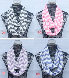 Wholesale Chevron Polyester Infinity Scarf - 2016 winter New women fashion Wave Chevron printing Infinity Scarf Women Circle Loop Scarves DHL free shipping