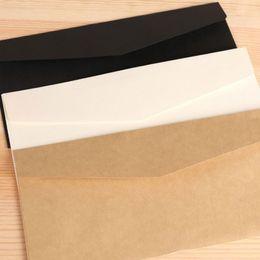 Wholesale Vintage Vip - Wholesale- 100 pcs lot Vintage Message Envelope 220*110mm Wedding Gift VIP Card Envelopes Stationery Office School Supplies