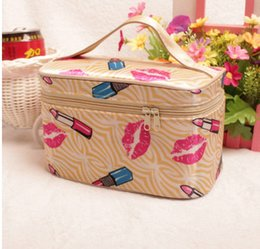 Wholesale Satin Bedding Wholesale - storage bag high quality Luggage bag satin material bento recommend cosmetic fashion wild -type portable storage pouch 19*12*11cm