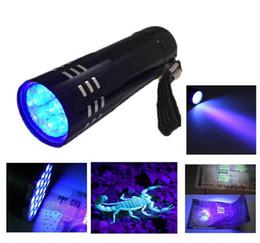 Wholesale mini led flashlight uv - 2015 New Mini AlumMinum UV ULTRA VIOLET 9 LED FLASHLIGHT BLACKLIGHT Torch Light Lamp