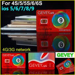 Wholesale Gevey Sim 4g - New Gevey Unlock Sim Card Perfect unlock 4G 3G ios9 ios 9.1 ios8.x ios7.X for iphone 6S plus 6 6plus 5s 4s AT&T T-mobile Sprint AU SB DOCOME